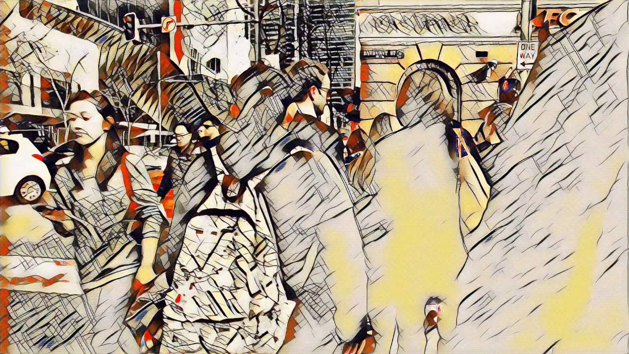 Neural style transfer of Sydney streets (HD 1080) , YouTube