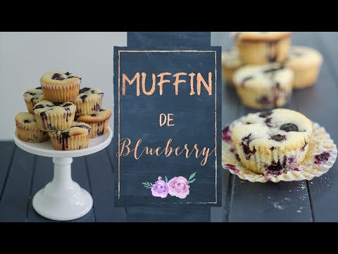 MUFFIN DE LIMÃO E BLUEBERRY (mirtilo)