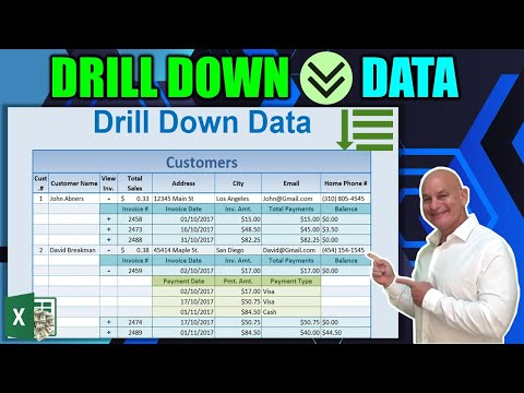 How To Automatically Drill Down Data In Excel on a SINGLE Click