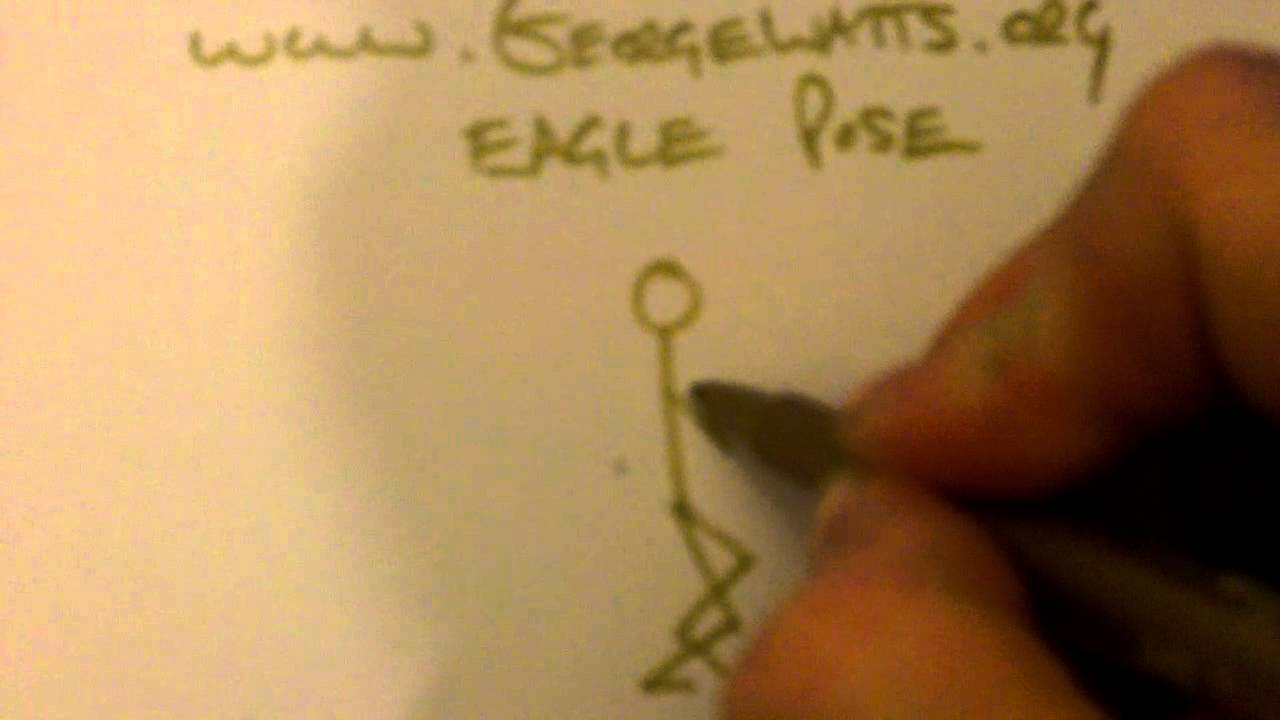 Eagle Pose Stick Figure