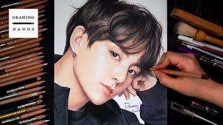Drawing BTS - Jungkook Drawing Hands