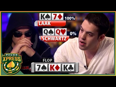When you FLOP A FULL HOUSE and get action! - A poker video