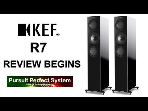 KEF R7 Floor standing HiFi Speakers REVIEW BEGINS McIntosh Chord Electronics