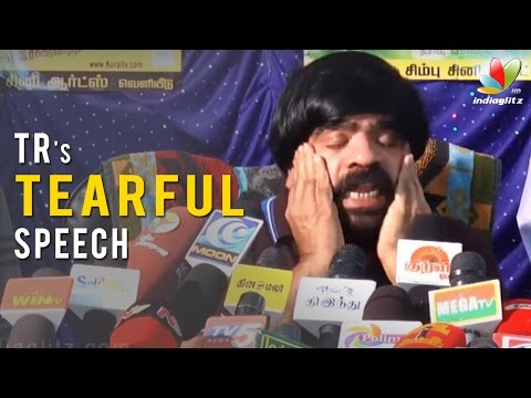 T Rajendar Tearful Speech on Son Simbu's...