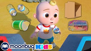 @Cocomelon - Nursery Rhymes | Clean Up Trash Song! | ABC 123 Kids | Fun Cartoons | Learning Rhymes