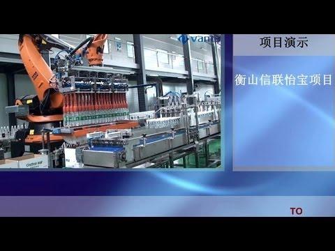 Shrink Wrapper, Carton Packer ,Robot Palletizer in Krones Project Vanta-End of Line Automation