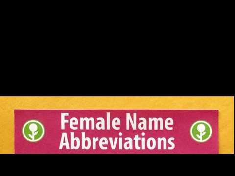 Female Name Abbreviations [Obvious Plant]