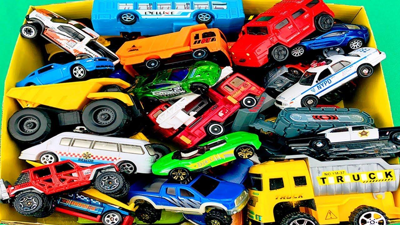 Download Carros y Camiones de Construcción - Caja de Coches para Niños - Colección de Juguetes Infantiles