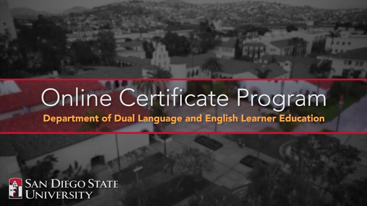 Online dual language eld certificate programs at sdsu youtube xflitez Images