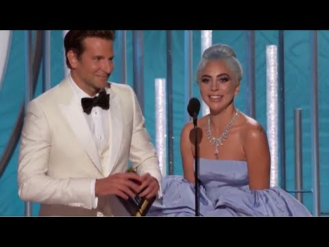 Lady Gaga - Golden Globes 2019 (Presents The Award & Wins Best Original Song)