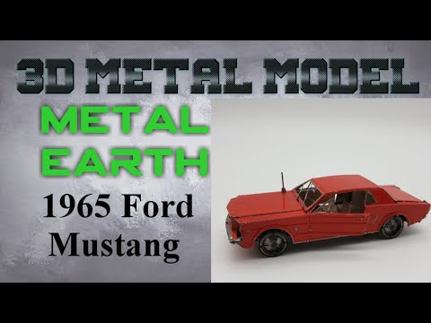 Metal Earth Build - 1965 Ford Mustang Red