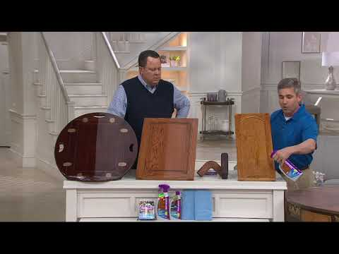 Rejuvenate Cabinet Cleaner & Restorer Kit W/ Wood Repair Color Markers On QVC