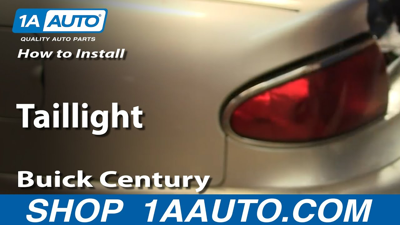 hight resolution of how to replace tail light 97 05 buick century