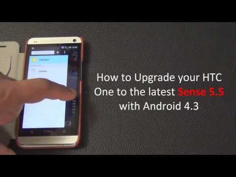 Update HTC One to latest HTC Sense 5.5 with Android 4.3