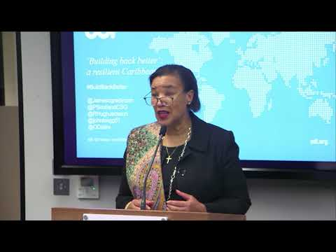 'Building back better': a resilient Caribbean - keynote speeches