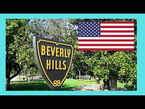 BEVERLY HILLS, driving through this world famous area,  California (USA)