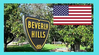 Driving through Beverly Hills, California