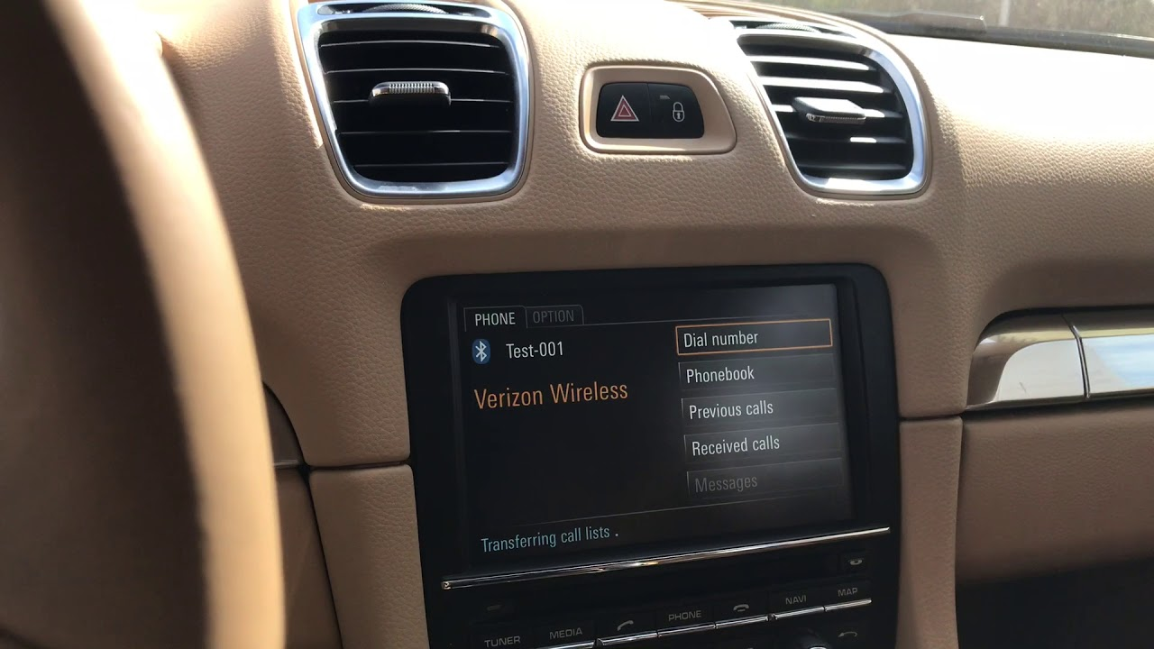 Porsche 981 Boxster and Cayman, 991 911 Bluetooth operations
