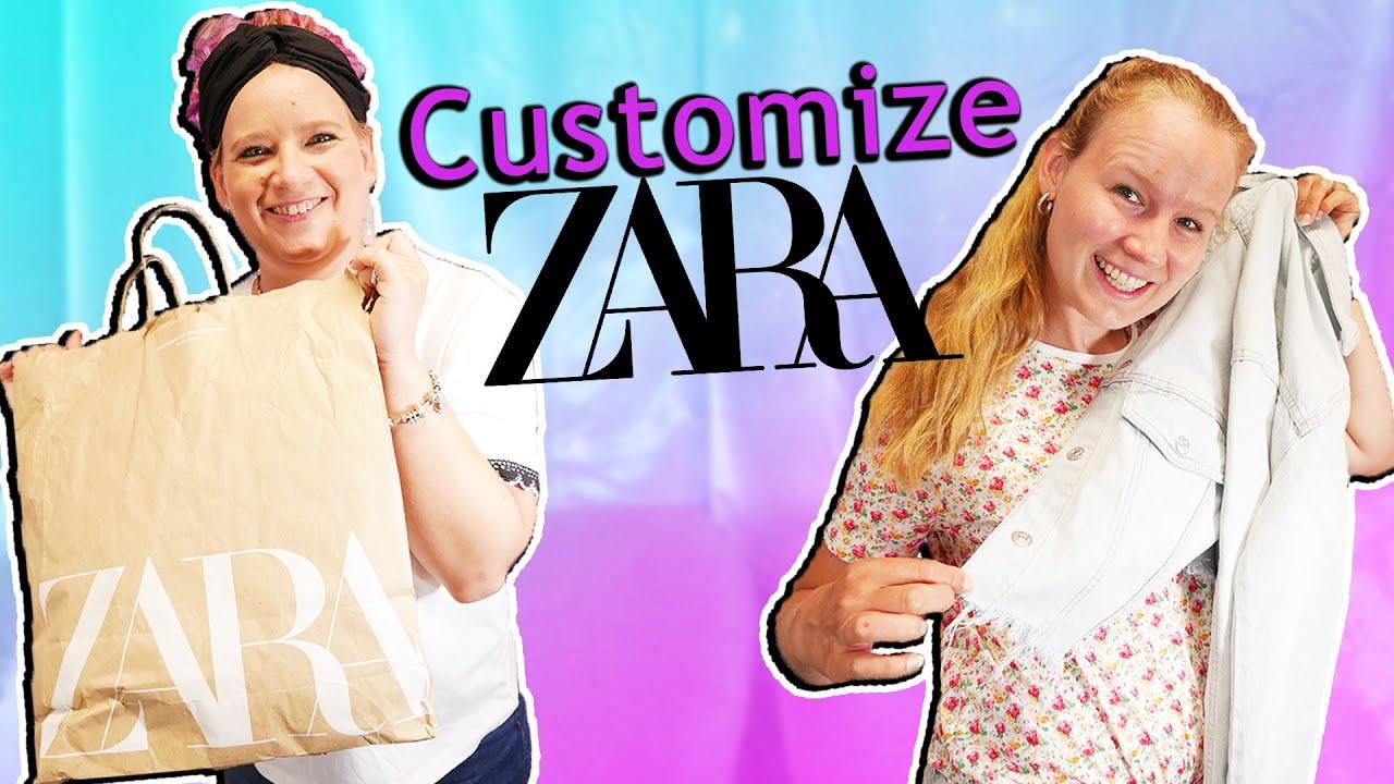 COSTUMIZE ZARA SHOPPING HAUL Eva & Kathi designen Zara Klamotten um! DIY Inspiration