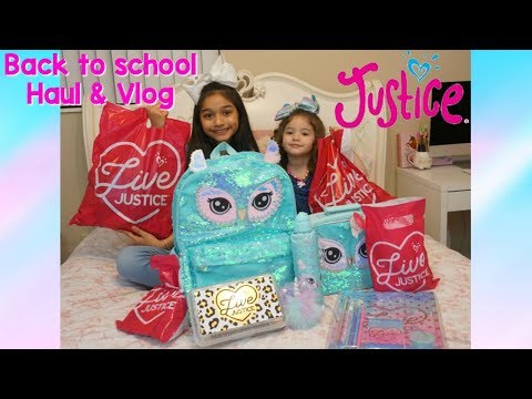 Justice back to school Haul and Vlog 2018😍👗💄📝
