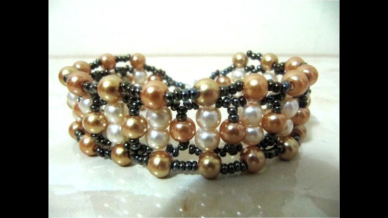 DIY como hacer pulseras de perlas , DIY how to make pearl bracelets , YouTube