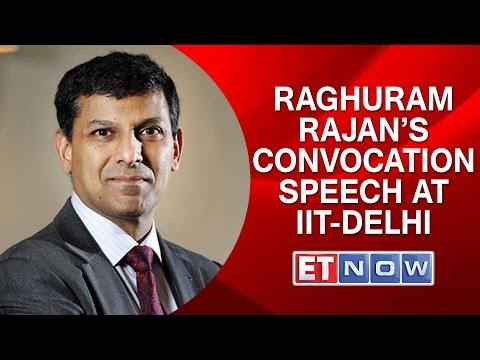 Rajan Unplugged: Raghuram Rajan's Convocation Speech At IIT-Delhi