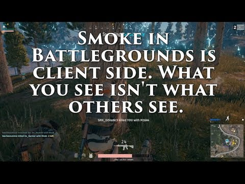 Battlegrounds - Smoke is Client Side