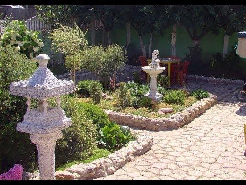 видео: Ландшафтный дизайн сада своими руками.  Сад 2013!