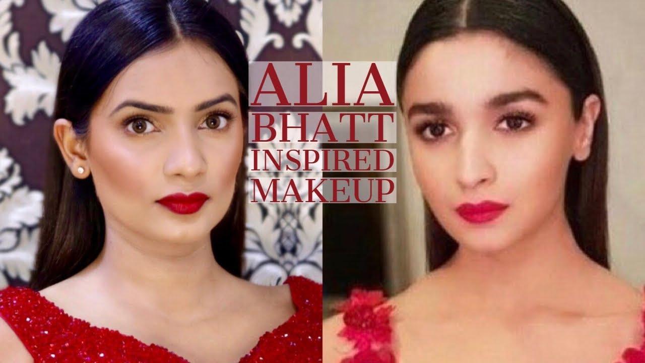 Alia Bhatt Inspired Makeup Celebrity Makeup Look Evening Makeup Youtube