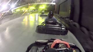 Teamsport Brighton Go-Kart Track 30 min session Go-Pro Hero 2 with Neat Video Noise Reduction
