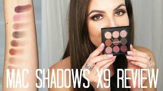 mac eyeshadows x9 review demo