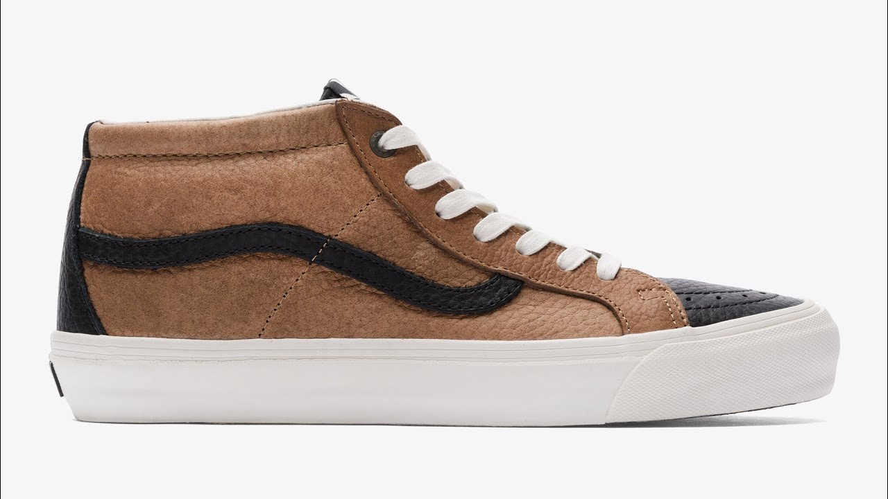 "Shoe Review  Vans Vault x Taka Hayashi ""Horween"" TH OG Sk8-Mid LX  (Bison Natural) 86cd30323b"