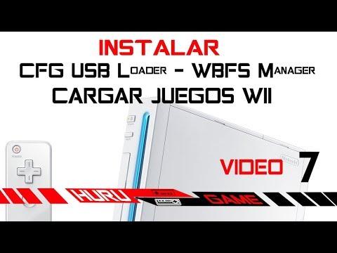 VIDEO 7 Wii 2019 - Cargar Juegos de Wii desde USB o Disco Duro - CFG USB  Loader - WBFS Manager