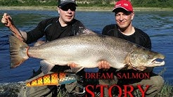 Lohi 23,12 kg Tenolta - Big Salmon from Teno River ( HD )