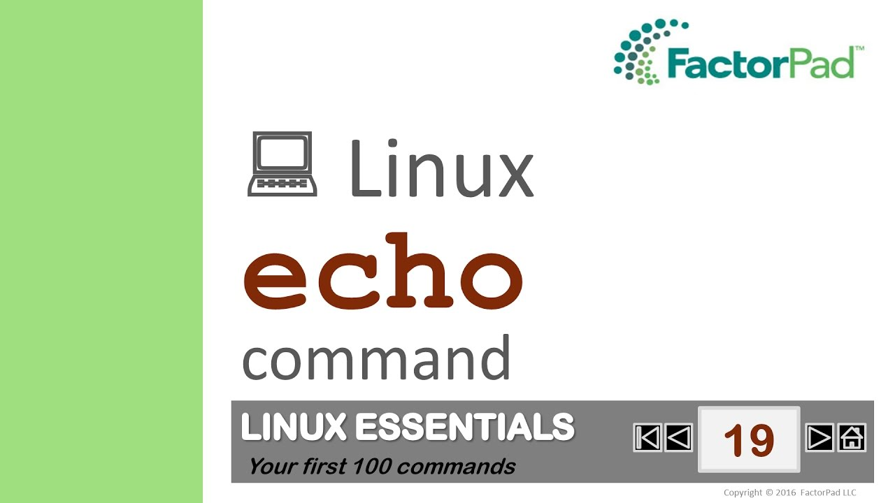 Linux echo command summary with examples