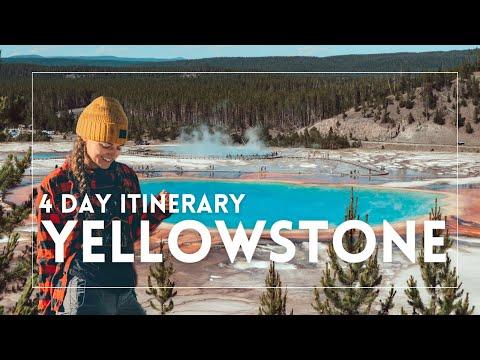 USA | YELLOWSTONE national park 4-day itinerary