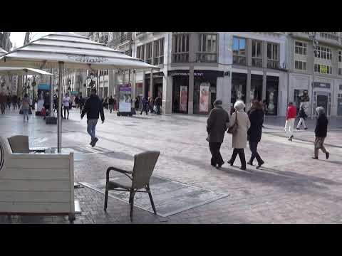 City Centre And Shops, Malaga, Spain