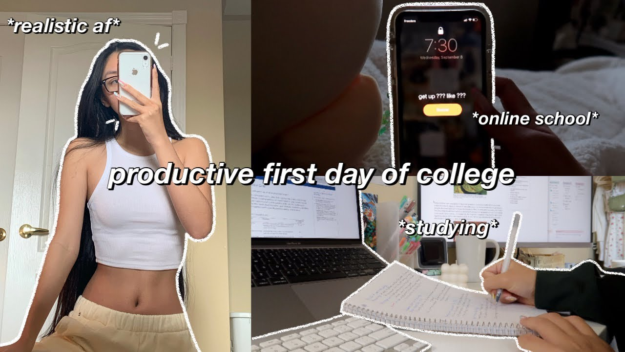 STUDY VLOG   productive first day of school   studying, note taking & school supply shopping🍃