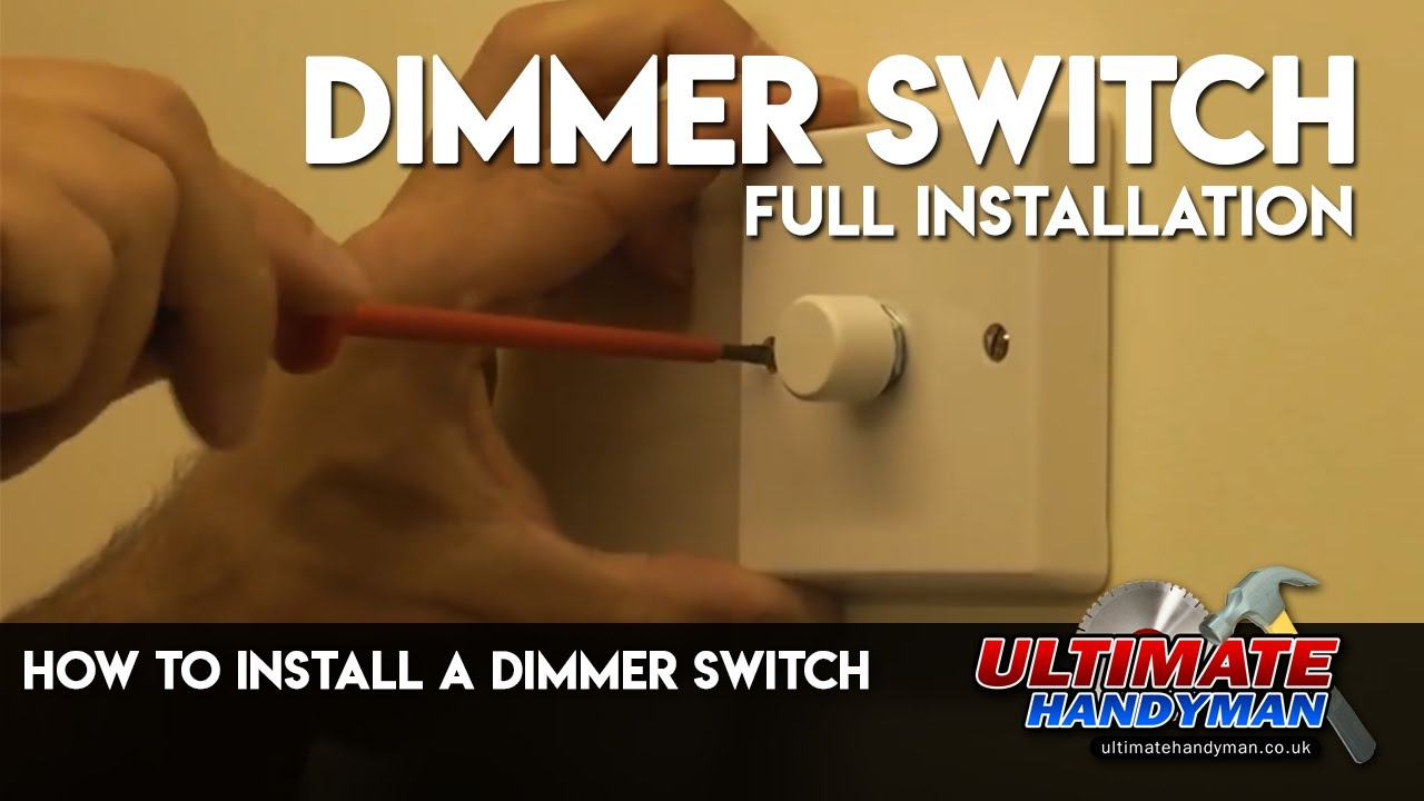 Lighting Wiring Diagram Uk 2001 Ford F 150 Fuse Box How To Install A Dimmer Switch Youtube