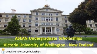New Zealand - Victoria University of Wellington ASEAN Undergraduate Scholarships #141031