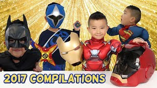 CKN TOYS 2017 COMPILATIONS Ride On Cars Toys Unboxing Superheroes Fun Challenge