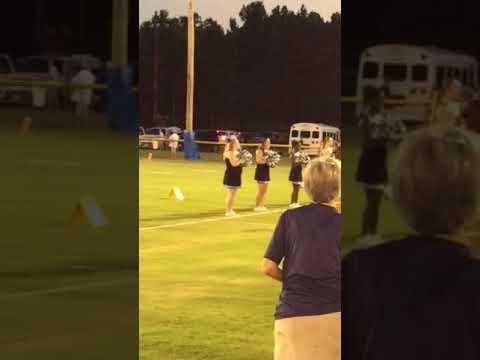 Mary Case 1st game as a PAC cheerleader- jamboree @ Jefferson Davis Academy