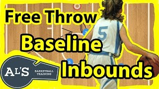 Foul Line Stack Baseline Inbounds Plays vs Man to Man Defense