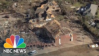 Aerial Video Shows Devastating Tornado Aftermath In Dallas | NBC News