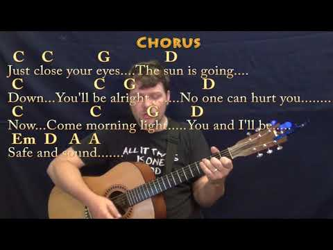 Safe and Sound (Taylor Swift) Guitar Cover Lesson with Chords/Lyrics - Munson
