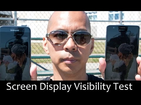 OnePlus 3 vs Samsung Galaxy S7 Edge - Outdoor Screen Display Visibility Test Comparison Review!