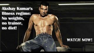 Video Akshay Kumar's fitness regime: No weights, no trainer, no diet! download MP3, 3GP, MP4, WEBM, AVI, FLV April 2018