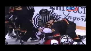 2504.2013 - Россия - Германия Хоккей ЧМ U18 1_4 финала Драка
