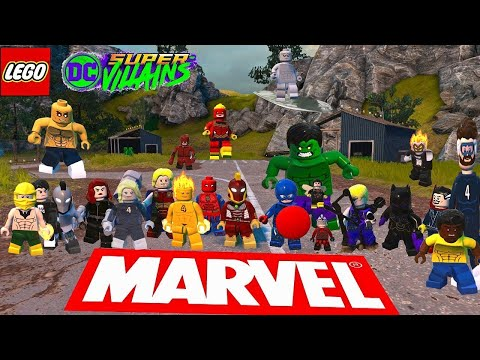 Marvel characters in LEGO DC Super villains (PART 2) |