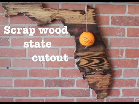 Wooden State Cutout Florida Diy